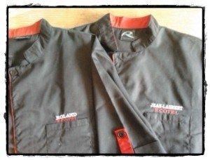Vestes De Cuisine Brodées Ecotel Quimper Atelier Krea Broderie - Broderie veste de cuisine