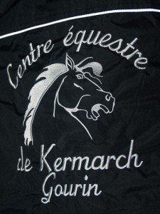 blouson-club-centre-equestre-kermarch-logo