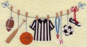 serviettes-brodees-collection-sur-le-fil-clothesline-theme-sports