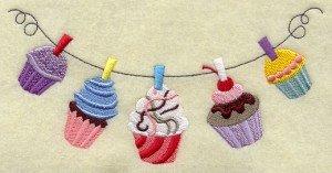 serviette-personnalisée-motif-F9648- cupcakes