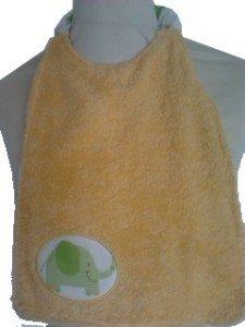 serviette-de-cantine-personnalisable_serie-Nessie-jaune-devant
